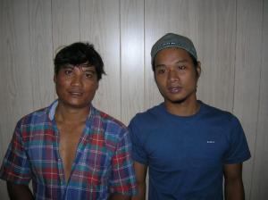 Aungn Mo (left) and Maung Maung Oo (right)