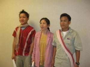 Maung Ei, Yu Maw, Zu Zu (rto l)