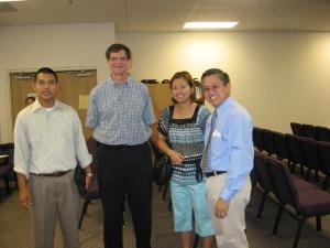 Max, John, Rose and Pastor Inthava