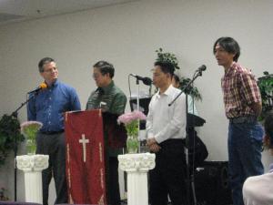 Pastor Rick, Pastor II, Phillip Saw, & Nyein