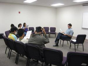 John McMurphy teaching Burmese Young Adults