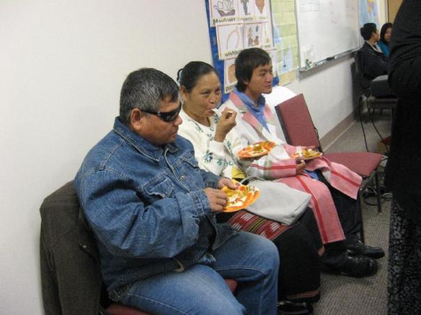 Adult ESL Class Eats Pumpkin Pie