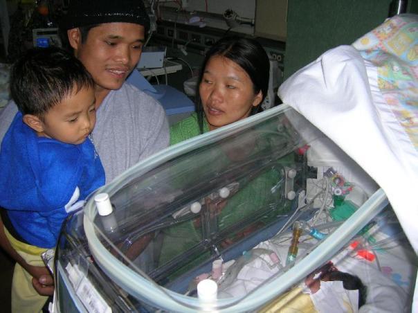 Van Boi, Tin Hnem, James and baby Moses