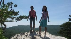 BiBi and Christina on Hanging Rock