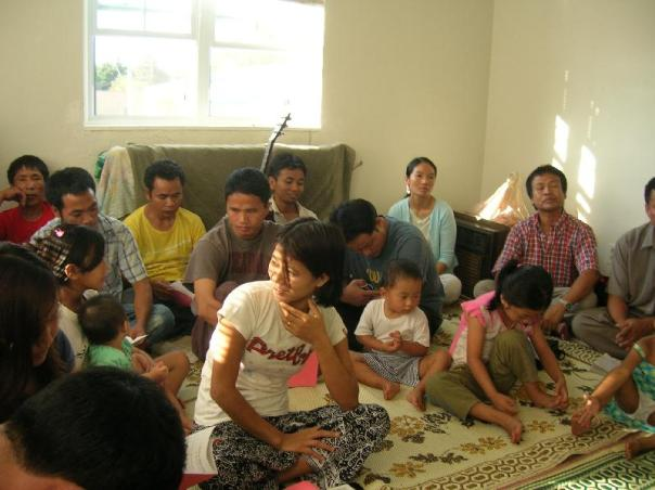 Chin Guest crowded in for Worship and Baby Dedication