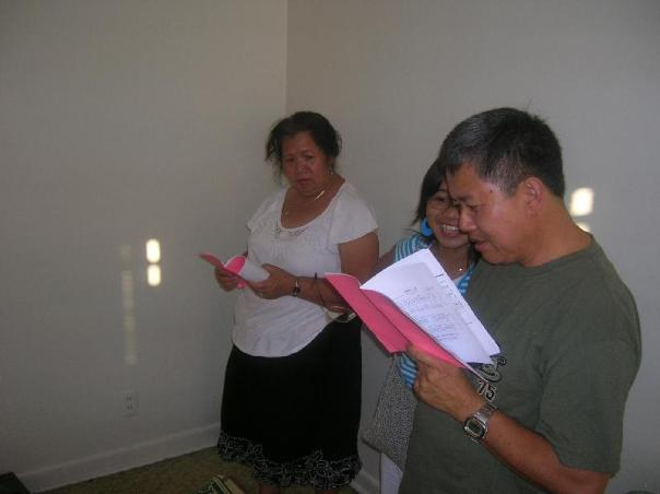 Pastor I.I. trying to sing from the Burmese Music