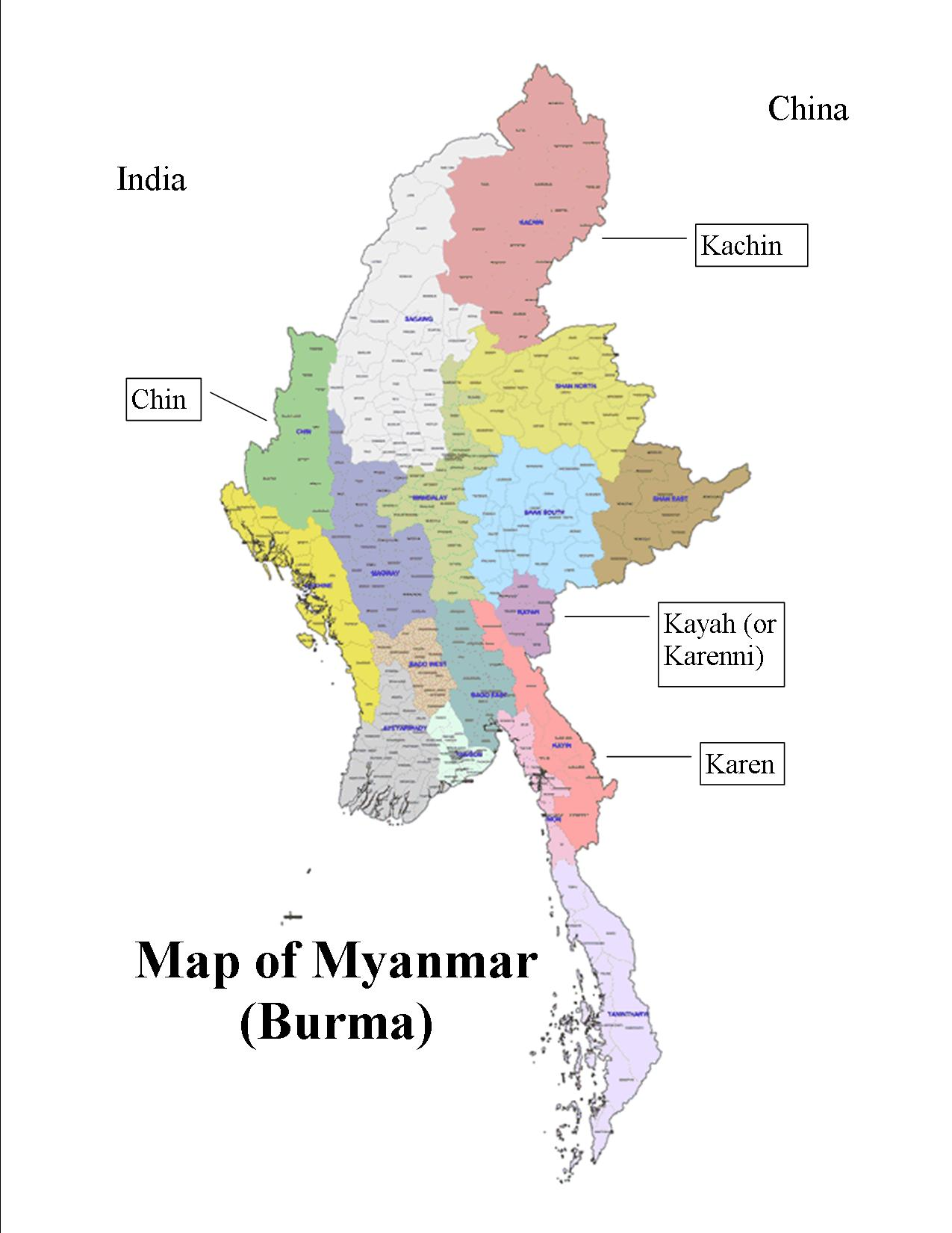 Administrative divisions of Myanmar - Wikipedia
