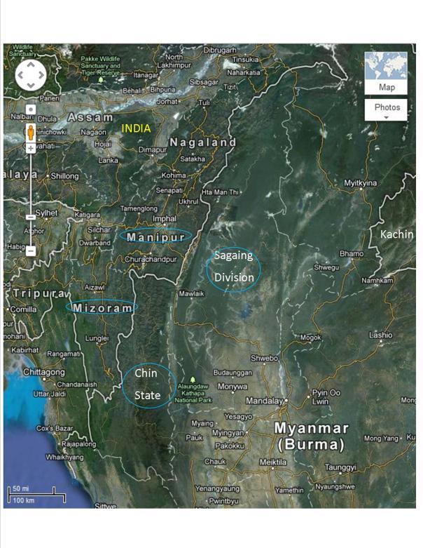 India Chin Border