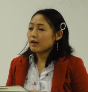 Esther Moo Preaches to Karen 10/13/13