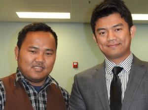 Van Thang (left) James Hmung (right)